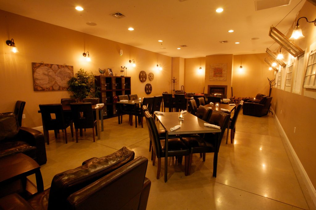 Whine's Fireside Room is perfect for entertaining and parties.